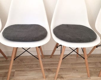 Seat cushion for Eames Chair with zipper grey 3 cm or 6 cm