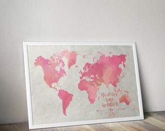 Frodo map etsy watercolor map of the world map watercolor world large poster sizes lord of gumiabroncs Images