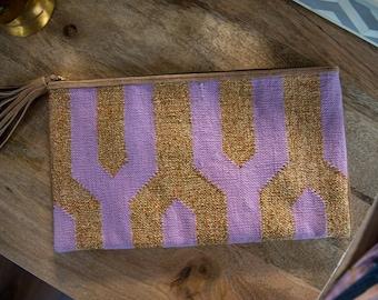Rich Lavender Bling Clutch