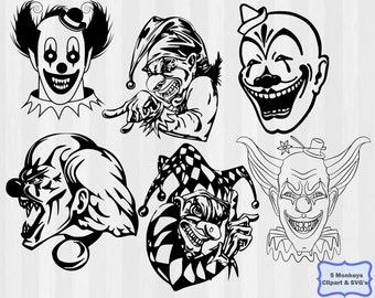 Evil clown | Etsy