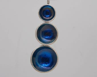 Sterling silver and resin pendant