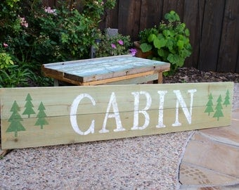 Customized Signs // Hand Painted // Wood Signs // Cabin Decor // Personalized Signs // Custom Made Signs
