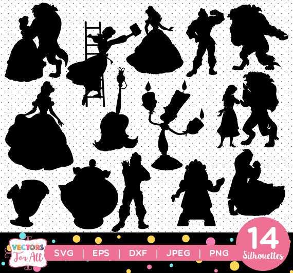 Beauty And The Beast Silhouettes Pack Princess Belle