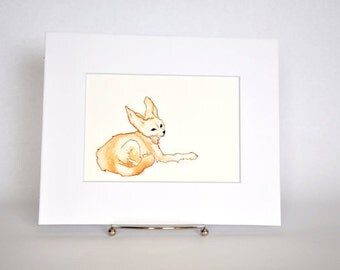 Original Watercolor Fennec Fox