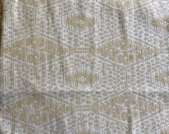 Woven Gold and Beige Fabric