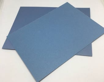 Blue Envelope and Flatcard set  / Card Stock  / Card Making  / Paper Stock / blue envelopes / blue flat notecards / notes