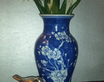 China Blue Fine Porcelain Exclusively for Seymour Mann vase