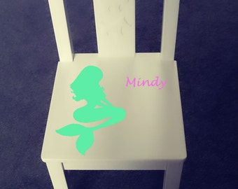 Personalized kids chair - Mermaid