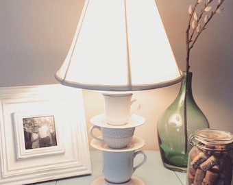 Upcycled Teacup Lamp