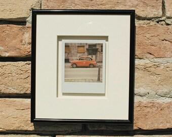 Framed Polaroid Photo. Original Polaroid Print.