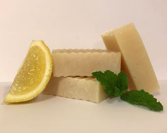 Handmade Soap, Lemon Mint