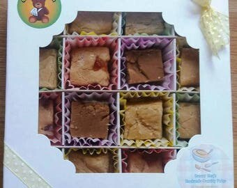 Handmade Crumbly Fudge - Traditional Recipe - Made to Order - Get Well Soon Gift Box