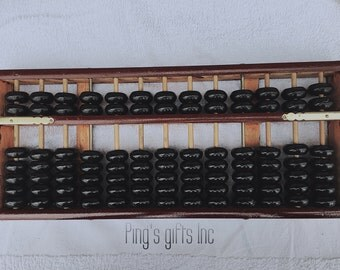 Vintage-Style Wooden Abacus Soroban Chinese Japanese Calculator