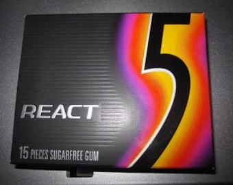 5 gum repurposed as a book mark