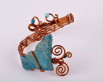 Recycled Copper Wire Bracelet