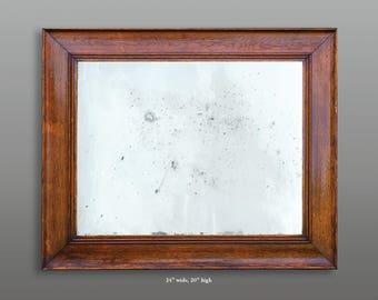 Vintage white oak frame with mirror