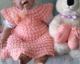 Elegant handmade baby girl dress