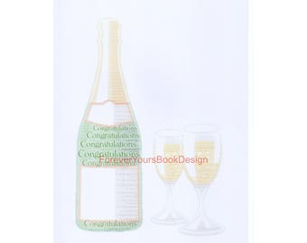 Champagne with glasses word art