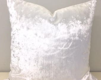 Bright White Velvet Pillow Cover, White Pillows, Velvet Pillow, Decorative  Pillows, Velvet