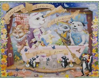 "Enchantimals Fine Art Print: ""Bathtub Boat"""