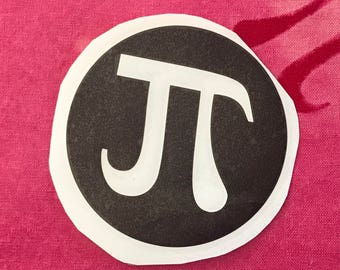 8 Reversed Vinyl Pi Stickers for Stenciling