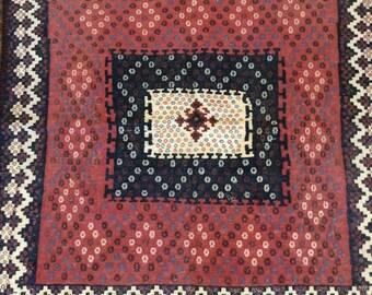 Gorgeous antique Bahtiyari (Iran) square kilim