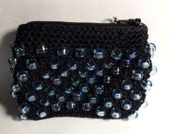 Black Knitted Coin Purse