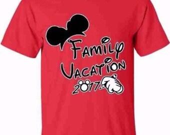 FAMILY VACATION 2017 T-shirt My First Trip Minnie Mickey NB bodysuit-4XL