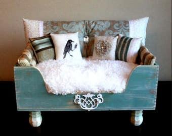 Custom Antiqued Pet Bed