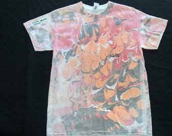 Marbled T shirt size medium