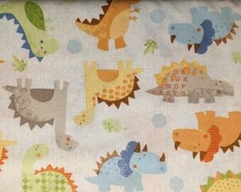 Blend Fabrics Little Yellow Bicycle Babysaurus 106-101-01-1       -- 1 yard cut