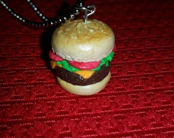 Handmade Burger Necklace *Free Shipping*