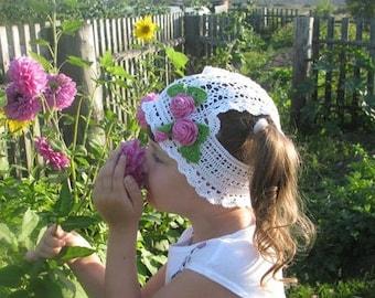Summer hat, Sun Hat, Beach Hat, Crocheted hat, Summer Cap, Summer Outfit, Girls Outfit