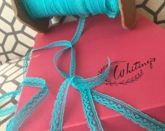 10 Yards ~  Turquoise  lace