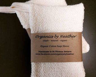 Organic Cotton Soap Sleeve