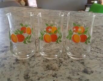 REDUCED-Set of 3 Vintage Juice Glasses