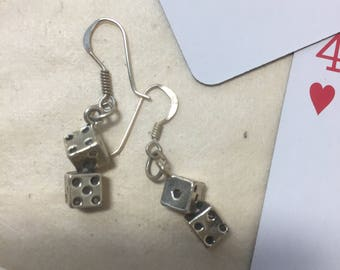 Sterling Silver dice earrings
