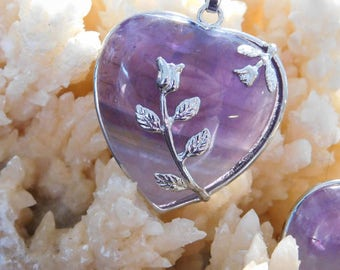Peaceful Heart - Amethyst Necklace