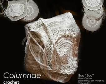 Crochet bag with lace
