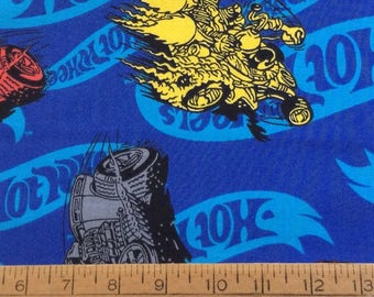 Hot Wheels cotton fabric by the yard