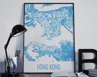Hong Kong Map Hong Kong Travel Map Hong Kong Street Map Hong Kong City Map Hong Kong Map Poster Hong Kong Map Photo Hong Kong Map Print