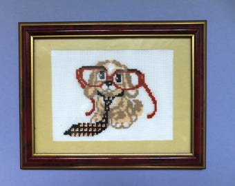 """Embroidery with a cross """"Dog""""."""