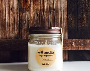 Citron (citrus): Natural Soy Candle from Soil Candles