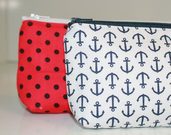 Zipper Pouch Cosmetic Case Phone Holder Pencil Pouch with Lining