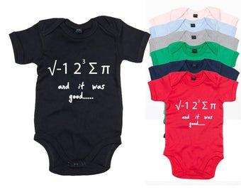 I Ate Some Pi Maths Baby Bodysuit