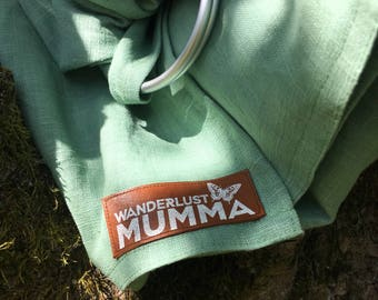 Linen Ring Sling 'Mermaid'