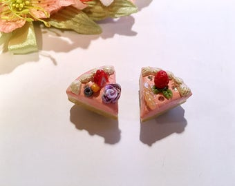 Pair of cake slices magnets