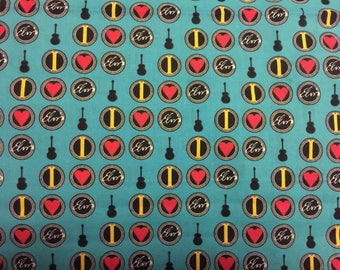 Elvis Presley The King Rock N Roll Music Material Fabric Sewing Rare