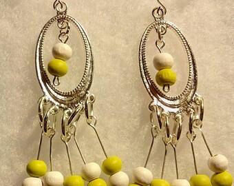 Multi-Color Wood Bead Bangles
