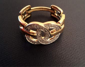 Chanel Ring Sz 7 with Diamonds